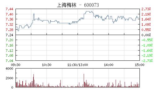 上海梅林(600073)行情走势图