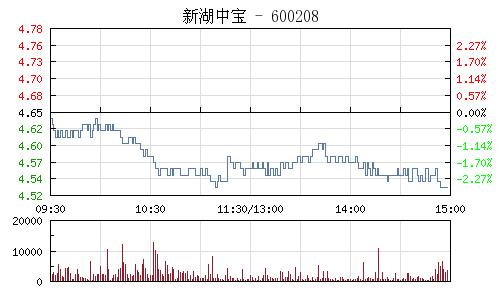 新湖中宝(600208)行情走势图
