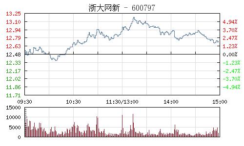 浙大网新(600797)行情走势图