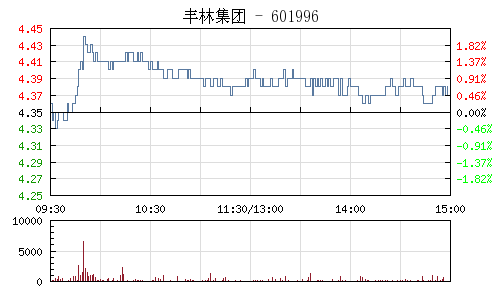 丰林集团(601996)行情走势图
