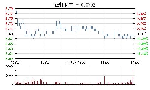 正虹科技(000702)行情走势图