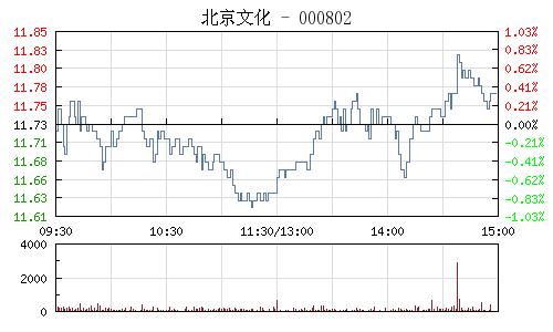 北京文化(000802)行情走势图
