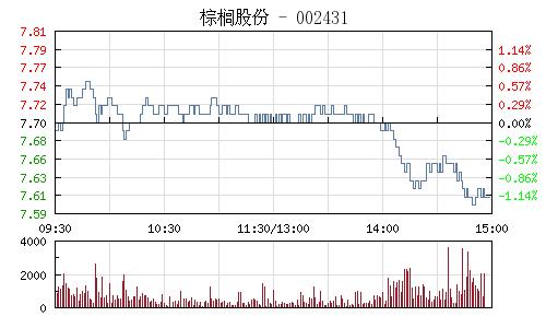 棕榈股份(002431)行情走势图