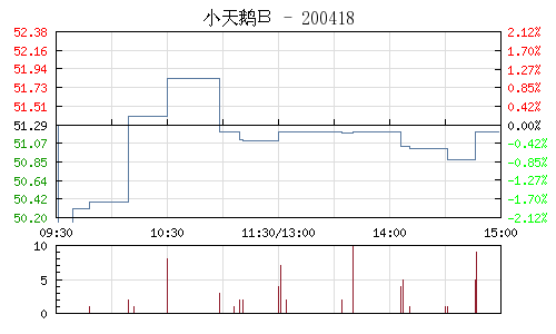 小天鹅B(200418)行情走势图
