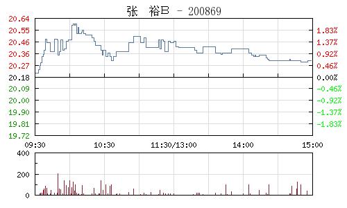 张裕B(200869)行情走势图