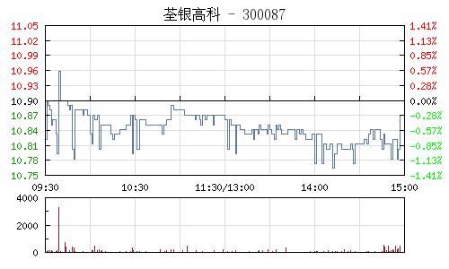 荃银高科(300087)行情走势图