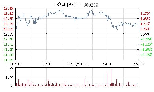 鸿利智汇(300219)行情走势图