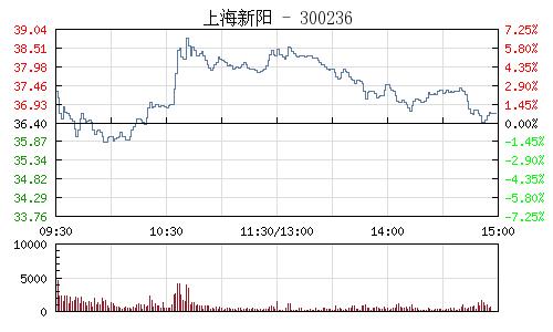 上海新阳(300236)行情走势图